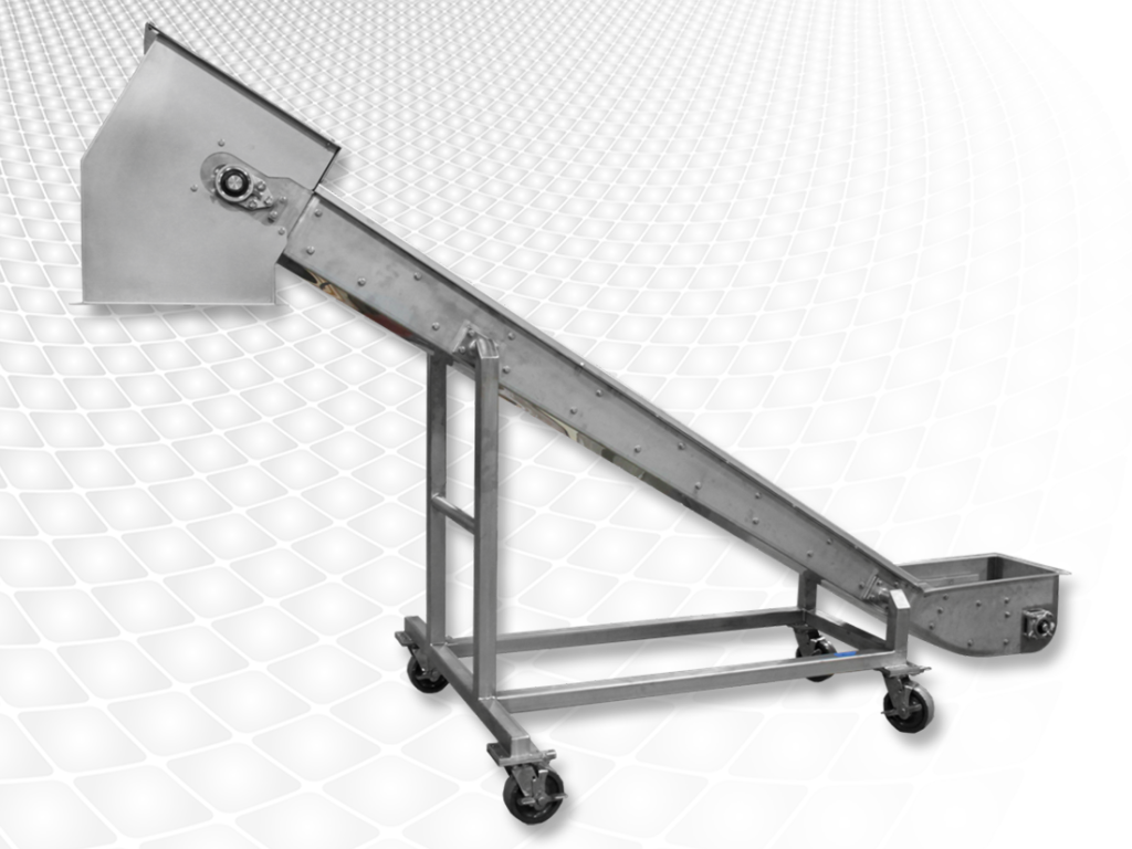 Sanitrac Belt Conveyors, drag conveyor, similar to Process Equipment Specialists